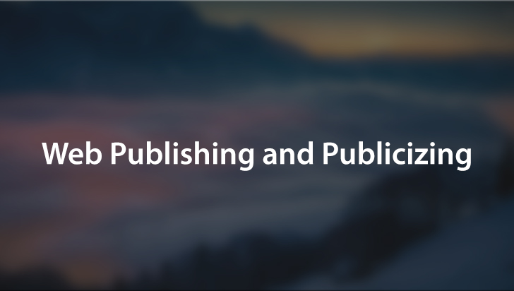 Web Publishing and Publicizing