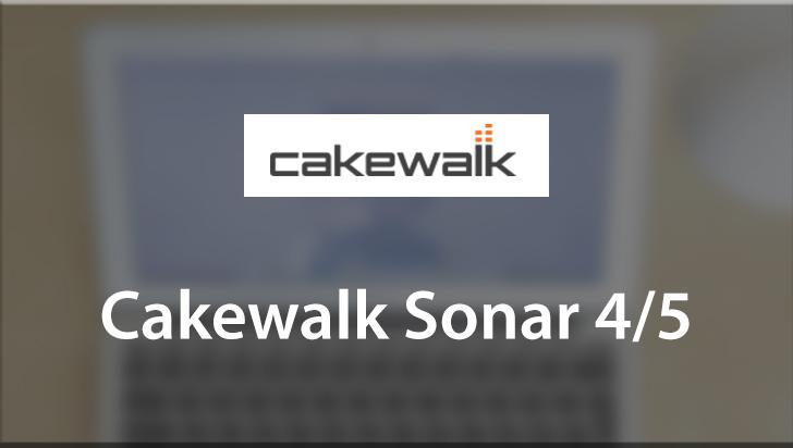 Cakewalk Sonar 4/5