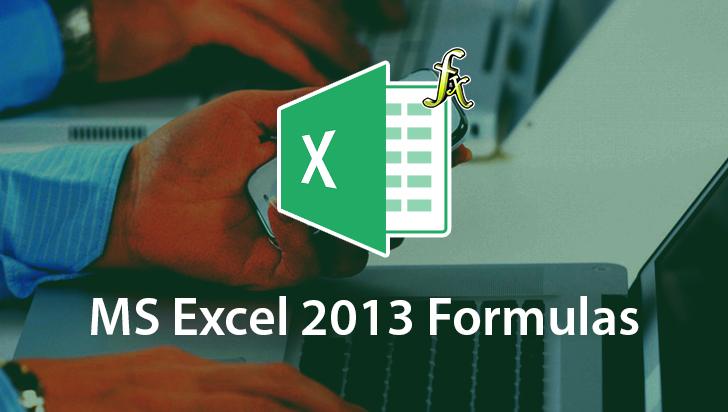 MasterClass! - Microsoft Excel 2013: Formulas