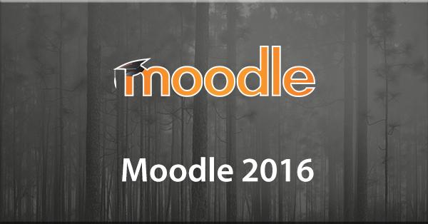 Moodle 2016