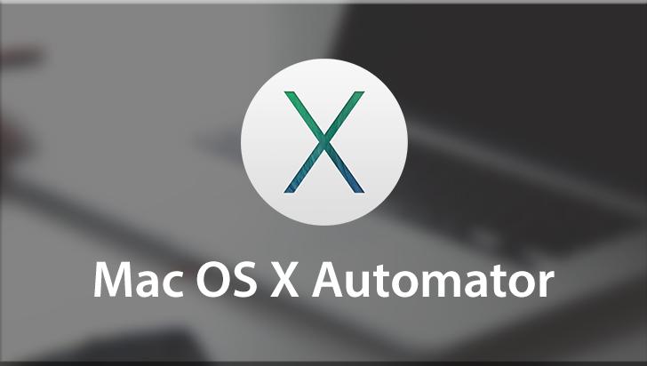 Mac OS X Automator